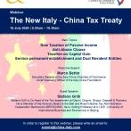 Webinar - The New Italy - China Tax Treaty - 16 luglio